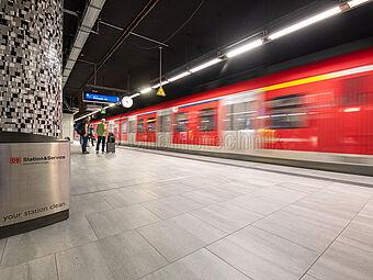 DB Tiefbahnhof am Flughafen Frankfurt